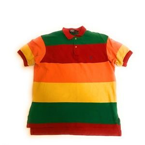 Polo Ralph Lauren Rainbow Colorful Striped Polo